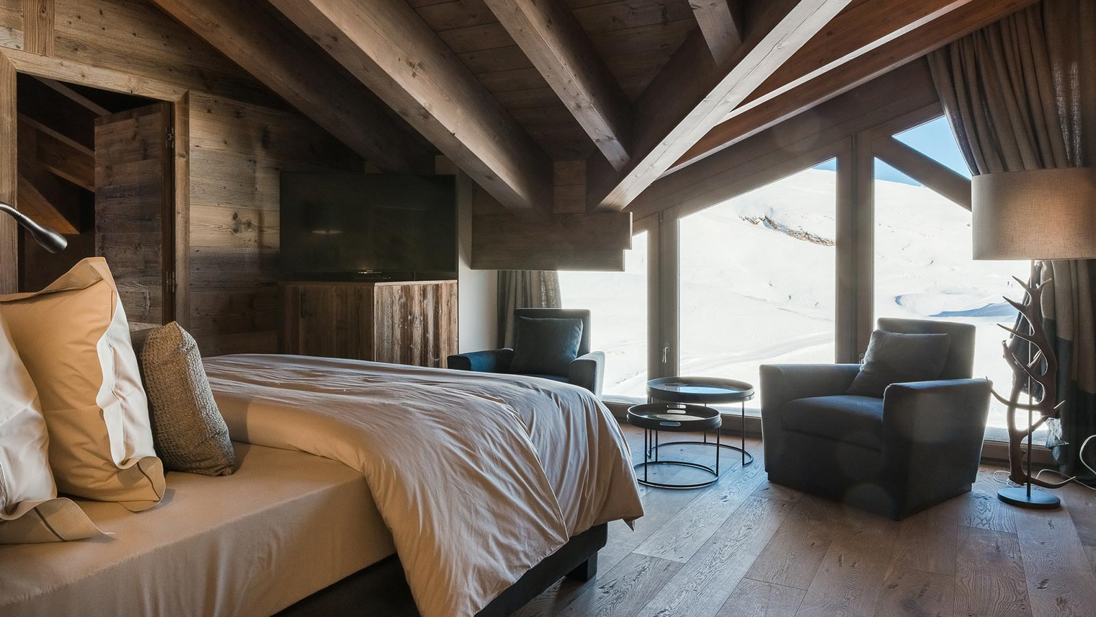 Interior of a suite in the mountain lodge